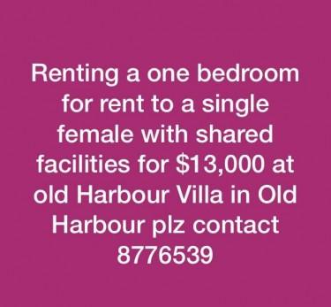 1 Bedroom Shared Facilities
