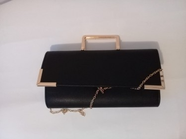 Black Clutch Purse (also Available In Brown)