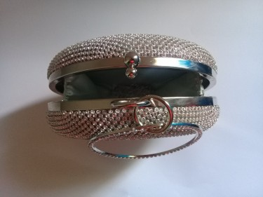 Sultry In Silver, Cute Party Clutch