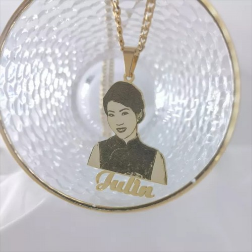 Personalized Picture And Name Necklace