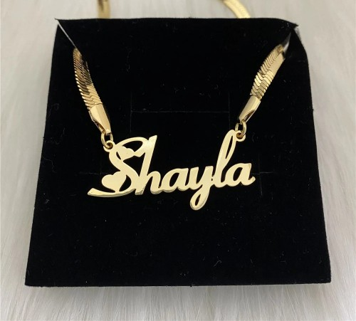 Stainless Steel Customized Name Snake Chain