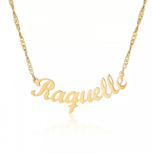 Custom Name Necklace With Curve Design