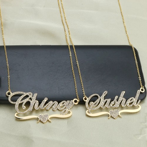 Stylish Iced Out Customized Name Necklace