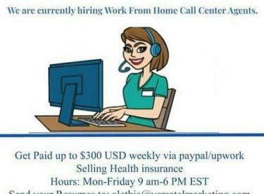 HOME BASED CALL CENTRE AGENT NEEDED NOT AN AGENCY