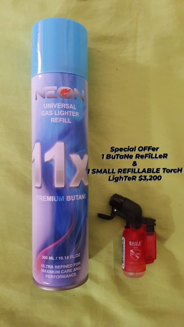 RefiLLabLe ToRCh LighTeRs With BuTaNe ReFiLLeRs