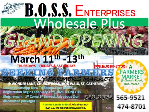 Farmers Market Booths/Stalls