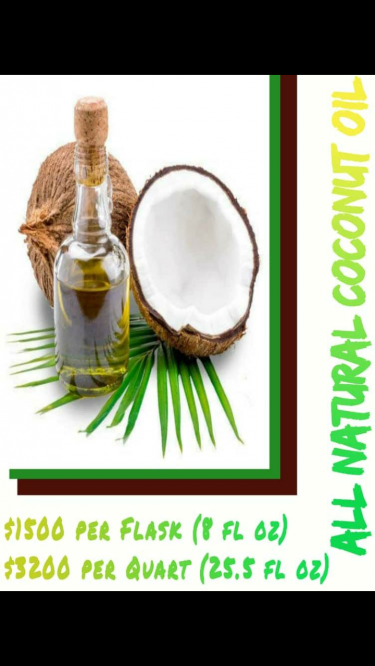 All Natural Coconut Oil Flask