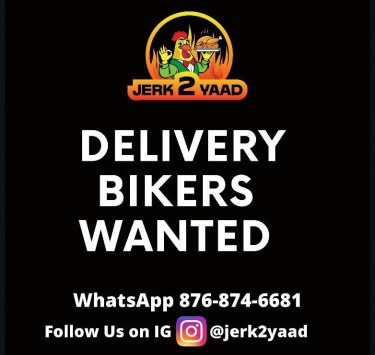 Delivery Bikers WANTED