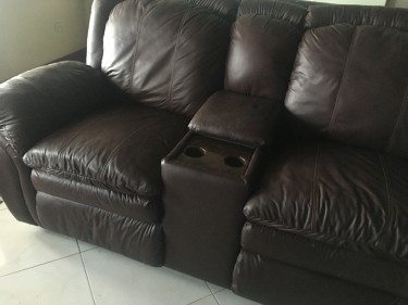 Leather Couch - 5 Piece Sectional