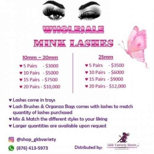 3D Mink Lashes - Wholesale