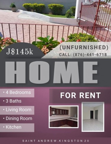 Beautiful 4 Bedrooms 3 Bathrooms 1/2 Side Of House