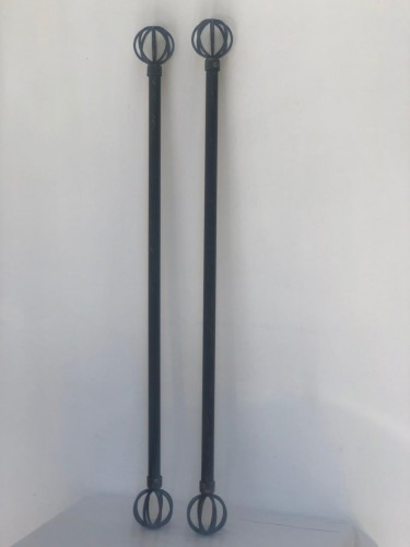 Two 50inch Curtain Rods