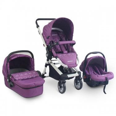 Baby Stroller 3 In 1 Newborn Infant Crib With Trav