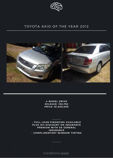 2012 Toyota Axio