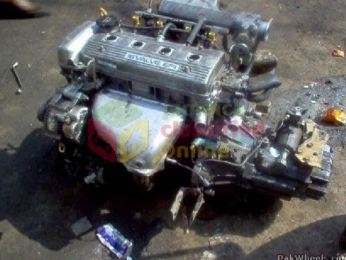 Toyota 5a Engine And Transmission With  Everything