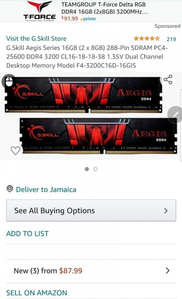 G.Skill Ages 16gb Ddr4 Desktop Memory