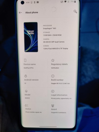 OnePus 8 Pro 256GB Model