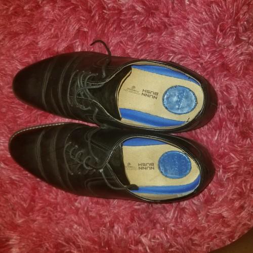 Worn Men Dress Shoes, Black