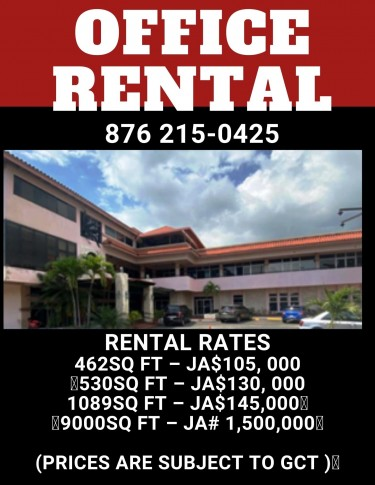 OFFICE RENTAL Available