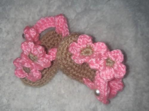 Crochet Baby Girl Slippers