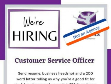 CUSTOMER SERVICE REP NEEDED NOT AN AGENT