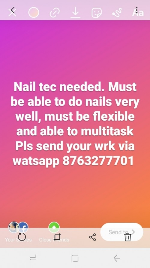 Nail Tec/ Hairstylist Needed