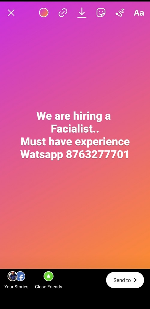 Facialist Needed