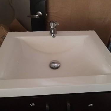 Bathroom Wooden Vanity Cupboard With Face Basin