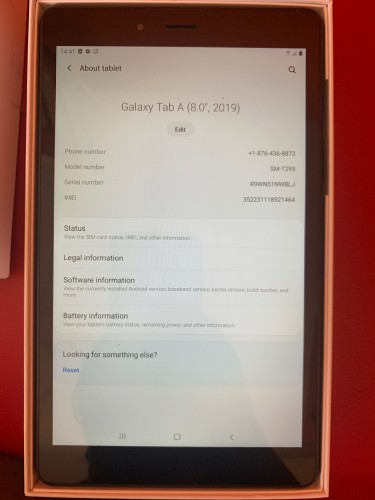 "Open Box 2019 Samsung Galaxy Tab A 8"" (WiFi + Cell"