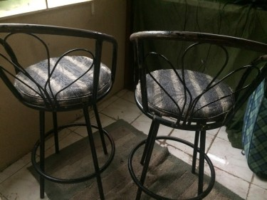 2 Bar Stools (Need Spraying) Cost For Both