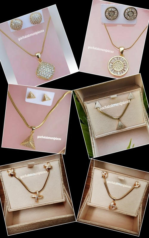 Stainless Steel Cute Necklace Set