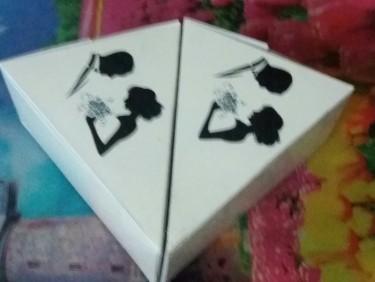 Bridal Couple Cake Slice Box
