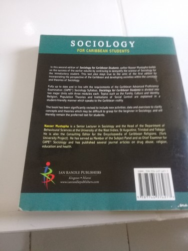 NEED A SOCIOLOGY BOOK FOR CAPE Only $2000