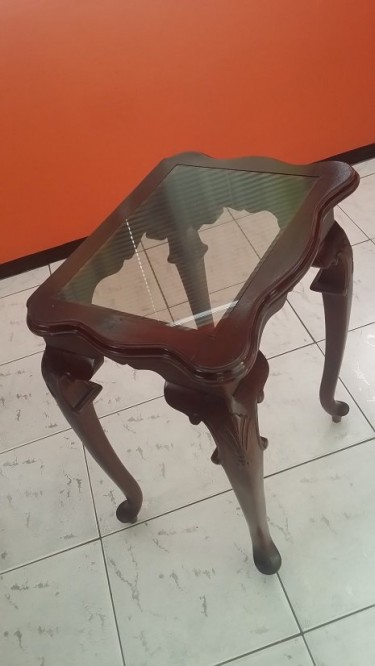 Standing Table With Glass Top