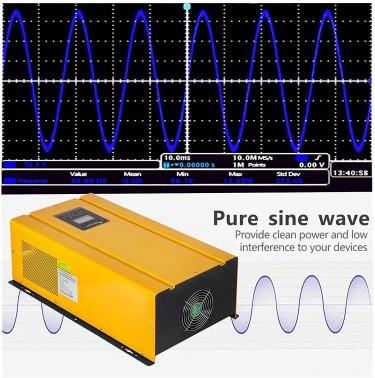 Pure Sine Wave Industrial Solar Inverter 6kw