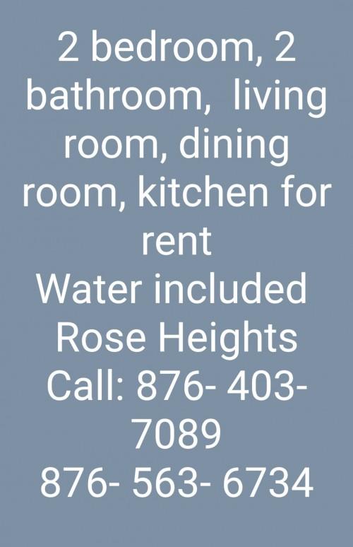 2 Bedroom, 2 Bathroom, Living Room, Kitchen
