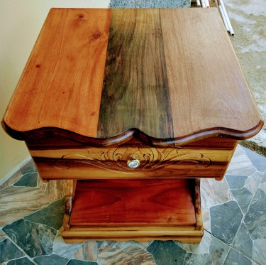 Bed Side Table Natural Board
