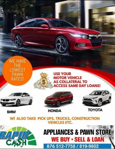 USE YOUR MOTOR VEHICLES TO ACCESS CASH!