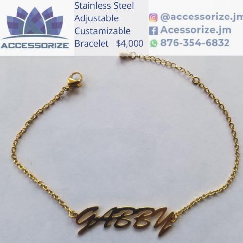 Custamizable Stianless Steel Bracelet