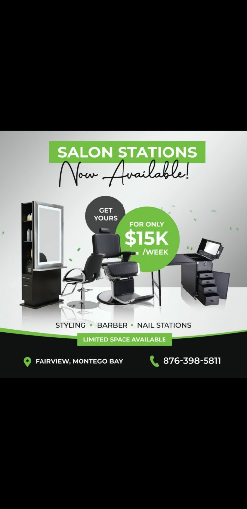 Salon Station....15 K Weekly