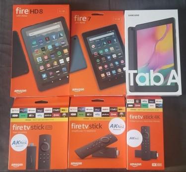 Tablets & Programmed Fire TV Sticks