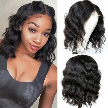 Closure Wig 12inch Body Wave Lace Front Wigs