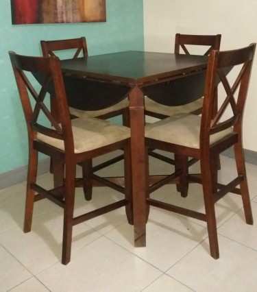 Drop Leaf High Chair 4 Seater Table