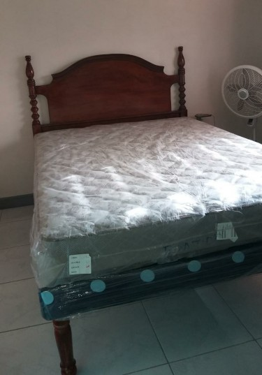 Queen Headboard, Mattress And Base (SOLD SEPARATE)