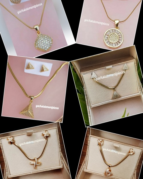 Cute Stainless Steel Necklace Set