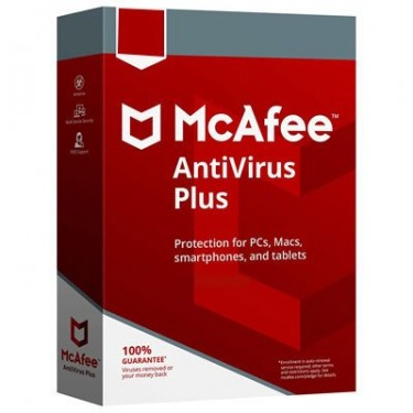 McAfee AntiVirus Plus 1 Year For 3 Devices