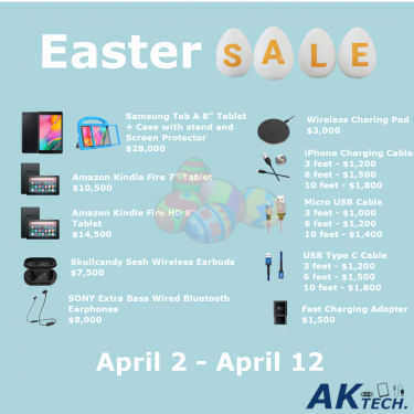 Easter Sale On Tablets & Chargers