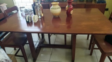 Solid Wood 6 Seater Dining Table