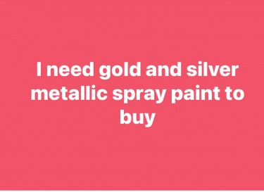 Seeking Metallic Spray Paint