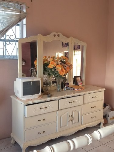 Three Mirror Antique Looking Dresser